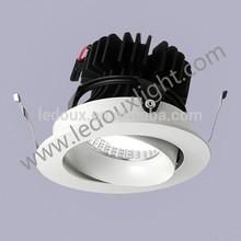 newest LEDOUX DSA0109-C COB one 60-65mm cut sunshine light shape 9w SAA adjustable led spot light 25degree narrow beam angle