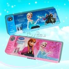 New Product HOT Movie Frozen Princess Elsa Anna Pattern Compass Pencil Box Pen Case Bag Holder Kids Toys Gifts