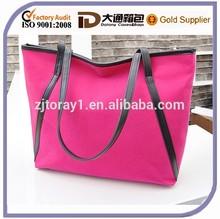 Canvas Beach Bag Stripe Rope Handle In Handbag Tote Shoulder Bag