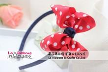 Baby ribbon hair accessory polka dot hair band hairband