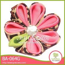 Girls decoration cheap mini ribbon flowers