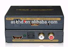 Mini HDMI audio extractor RCA 3.5mm R/L --Support HDCP