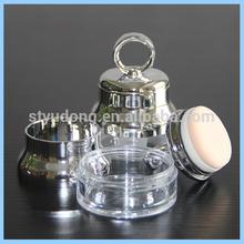 LP0082 plastic loose powder case with puff