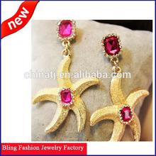 Chandelier Dangle Earrings starfish fashion stud hanging earrings