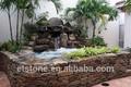 Pequeño jardín de la cascada, Natural piedra cascada | depuracion de aguas otoño en la piedra roca