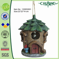 9.5 inch Resin Antique Tree Decoration House Bird