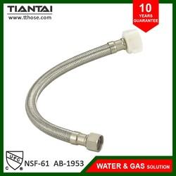 Metal wc hose brass flexible toilet hose