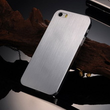 Shockproof stainless hard back metal case for Iphone 5 5S