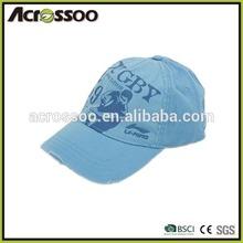 Cheap cotton canvas baseball cap/dyed fabric light weight printed sports cap