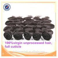 Grade 7A full cuticle 100%raw unprocessed virgin full fix hair