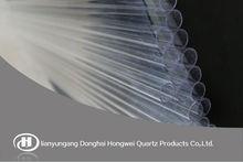 Hongwei high purity clear quartz tube fused silica tube for sale