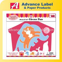 Para crianças criança plástico desenho pintura Jumbo em forma de animais Stencil Set