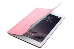 For ipad 6 ultra thin PU skin case for ipad 6 for ipad air2 leather deformable standing case