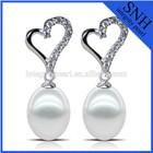 7.5-8mm drop pearl earrings 925