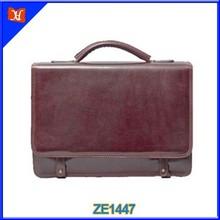 High quality men executive leather briefcase fashion messenger bag