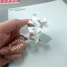 Ultra destructible vinyl labels papers, Blank destructible vinyl sheet, strong adhesive self adhesive stickers material