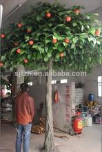 Big apple christmas tree ornaments for zoo decoration plastic apple tree