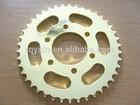 BAJAJ Motorcycle Spare Parts,Chain Sprocket,zinc color,Good Quality, Factory Price