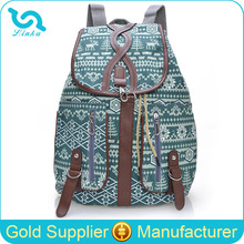 Stock Whosale Factory Direct Canvas Drawstring Cover Bohemian Style Printing Vintage Canvas Backpack