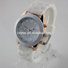 R0452 Popular ladies sweet couple lover wrist watch, silicone strap couple lover wrist watch