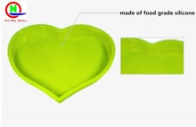 The best valentine's day gift DIY silicone cake moulds silicone baking tools huge heart shape silicone cake moulds