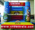 el diseño simple gigante inflable castillo inflable de la diversión de la ciudad para juego de niños