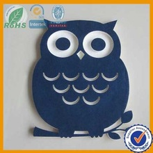 2015 laser cut colors wool felt animal shapes from factory