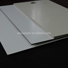 white fireproof aluminum composite panel / acp / acm wall cladding