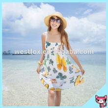 Butterfly Pattern beach dress 2015