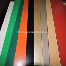 colorful aluminum plastic composite panel ACP for interior / exterior wall cladding