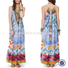 2015 New Product Wholesale Fitness Clothing Kaftan Maxi Dress Alibaba China