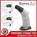 Kcf-180 2 1 en jet y la llama normal cigarro cigarrillo antorcha asador herramientas de cocina