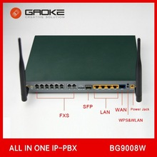 8 FXO FXS Asterisk Mini IPPBX BG9008W Compatible with Zycoo Yeastar Atcom Digium IP PBX