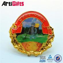 Promotional gold epoxy printing badge making