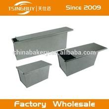 Aluminum toast box with lid/Non-stick Mini bread pan/loaf pan apple crisp