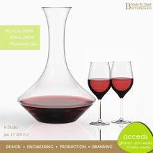 Creativity Free Design Moderno Eco Pyrex Glass Wedding Bottles
