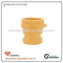 pp camlock hose shank coupling type e type f
