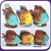 Handmade polyresin artificial color fish statue ornament