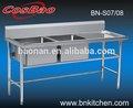 Attrezzatura da cucina/acciaio inox/lavastoviglie tavolo/lavello panchina per il ristorante bn-s08