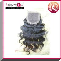 2015 high quality natural color three part hair closure silk base