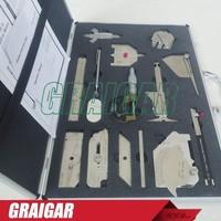 Stainless steel welding measure gauge kits combine suit 13 piece weld gauge