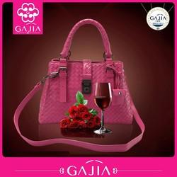 hot new 2015 elegence lady woven genuine leather bags , women handbag ,tote bag