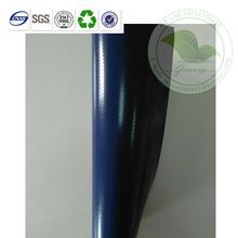 1350 gsm Dark Blue Vinyl Woven Fabric For Truck Side In Stock