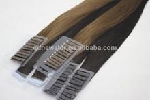 Brazilian knot 6a virgin hair extension tape hair
