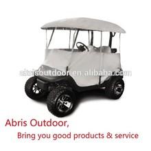 2 Seats Golf Club Cart Waterproof Enclosure Rain Tan Cover
