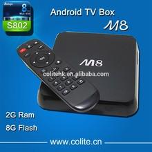 Quad Core Android TV Box M8 Fully Loaded XBMC 2GB Ram 8GB Flash