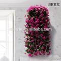 5 gruppo artificiale foglie di vite falso magenta glicine fiore ingrosso decorativi rattan fiori viola
