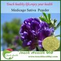 Suministro touchhealthy alfalfa orgánica en polvo/harina de alfalfa/alfalfa deshidratada en polvo de hierba