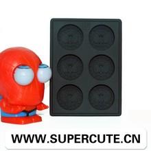 100% food grade silicone Black color Spiderman design silicone ice cube tray