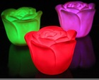 Battery operated Valentine's Day gift Romantic Rose Shaped 7 Colors Changing LED Night Light